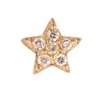 Star - Brass or Gold & CZ Charm